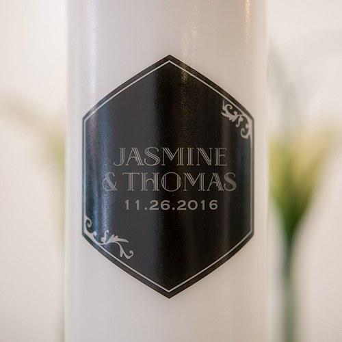 Black And Gold Opulence Unity Candle-The Wedding Haus