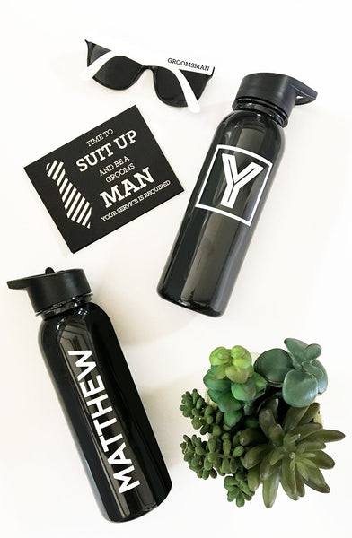 Black Sports Bottles-The Wedding Haus