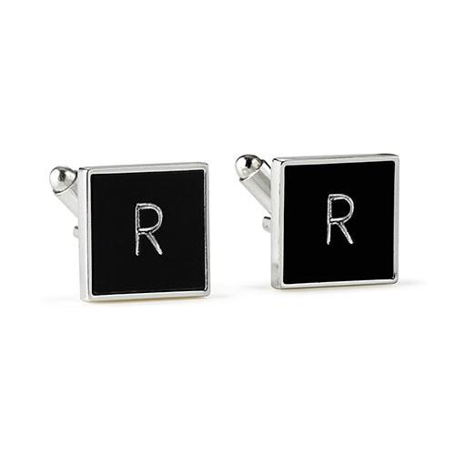 Black Square Cuff Links-The Wedding Haus
