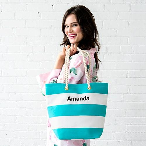 Bliss Striped Tote-The Wedding Haus