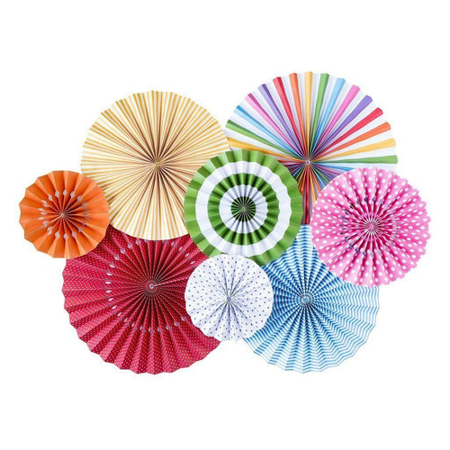 Bright Paper Rosettes-The Wedding Haus