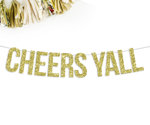 Cheers Yall Party Banner-The Wedding Haus