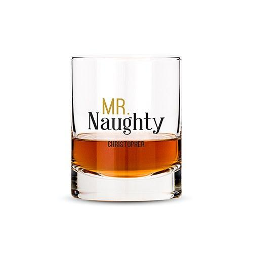 Classic Rocks Glass - Mr. Naughty Printing-The Wedding Haus