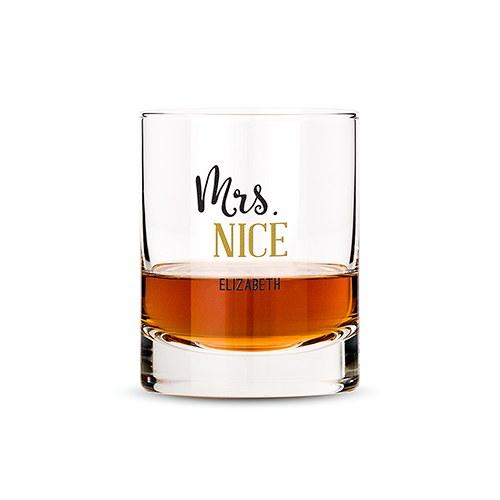Classic Rocks Glass - Mrs. Nice Printing-The Wedding Haus