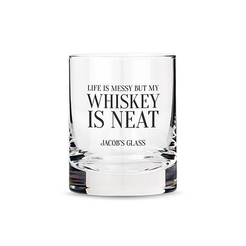 Classic Rocks Glass - Whiskey Is Neat Printing-The Wedding Haus