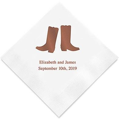 Cowboy Boots Printed Paper Napkins (Sets of 80-100)-The Wedding Haus