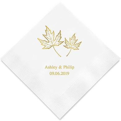 Fall Leaf Printed Paper Napkins (Sets of 80-100)-The Wedding Haus