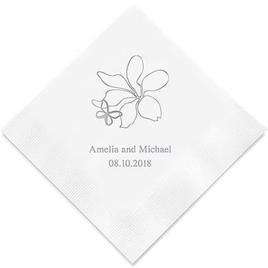 Floral Butterfly Printed Paper Napkins (Sets of 80-100)-The Wedding Haus