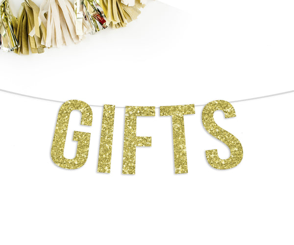 Gifts Party Banner-The Wedding Haus