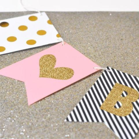Gold Glitter Banner - Wedding-The Wedding Haus