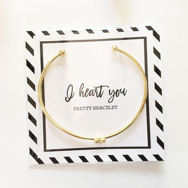 Gold Heart Bracelet-The Wedding Haus