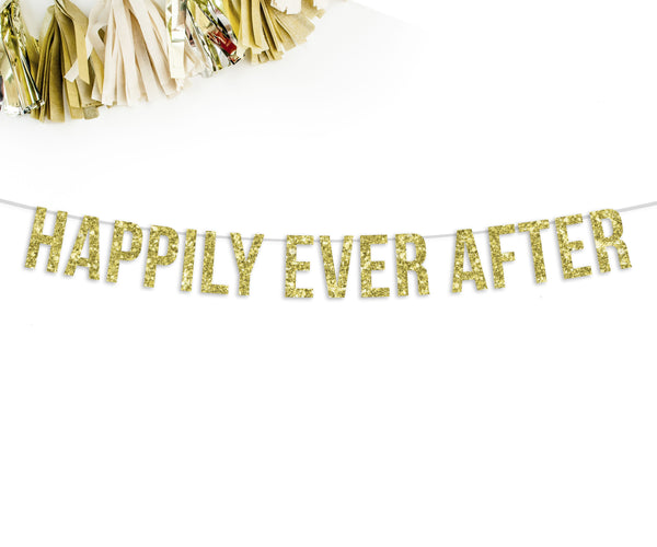 HAPPILY EVER AFTER Party Banner-The Wedding Haus