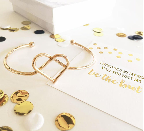 "Heart ""Tie the Knot"" Bracelet-The Wedding Haus"