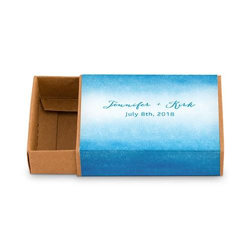 Kraft Favor Box With Personalized Aqueous Wrap (Set of 8)-The Wedding Haus