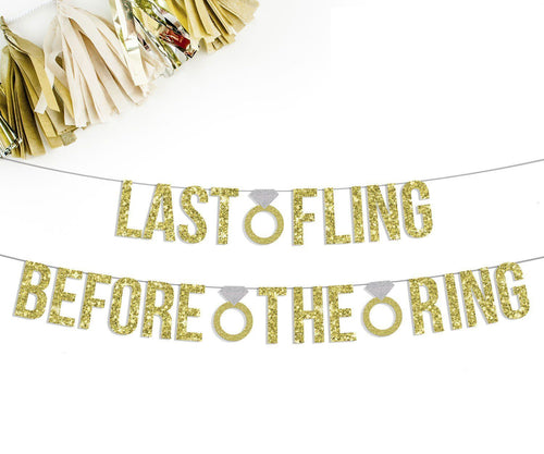 LAST FLING BEFORE THE RING Party Banner-The Wedding Haus