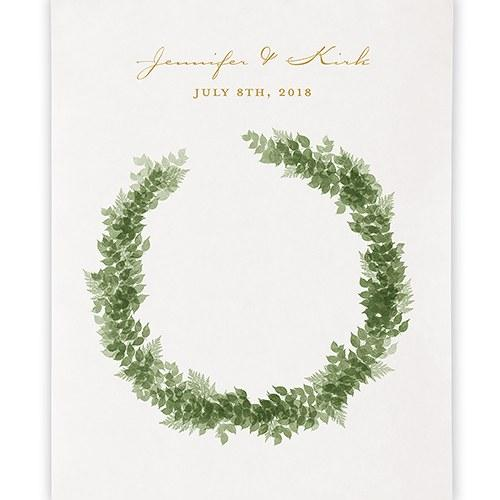 Love Wreath Personalized Premium Canvas Backdrop-The Wedding Haus