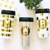 Metallic Foil Travel Coffee Mug-The Wedding Haus