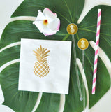 Metallic Gold Pineapple Napkins (set of 25)-The Wedding Haus