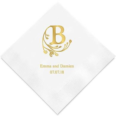Modern Fairy Tale Initial Printed Paper Napkins (Sets of 80-100)-The Wedding Haus