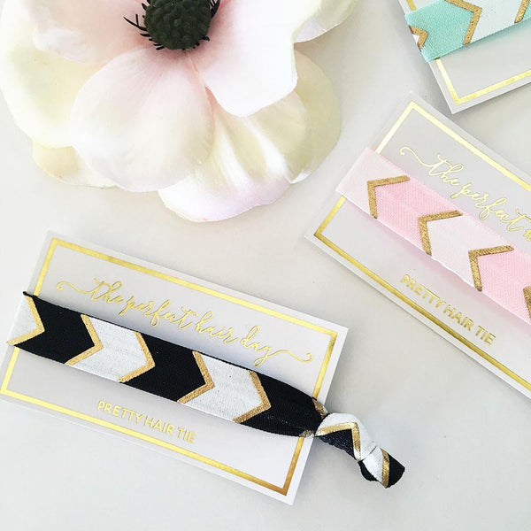 """Perfect Hair Day"" Hair Tie (Set of 6)-The Wedding Haus"