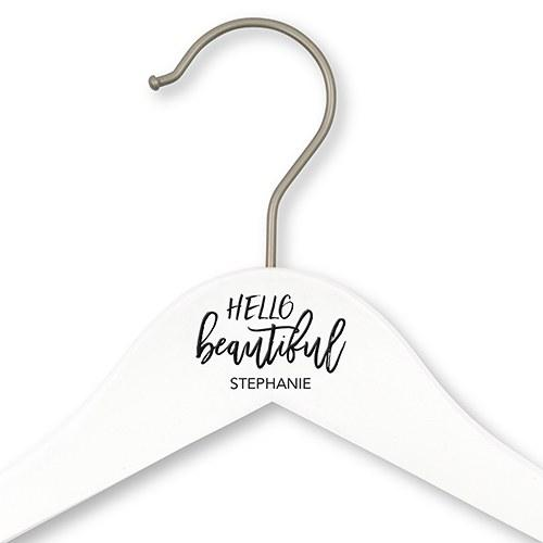 Personalized Bride And Bridesmaids Hangers - Hello Beautiful-The Wedding Haus