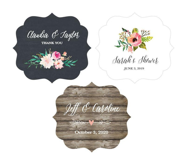 Personalized Floral Garden Frame Labels (Set of 24)-The Wedding Haus