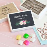 Personalized Floral Garden Gum Boxes (Set of 24)-The Wedding Haus