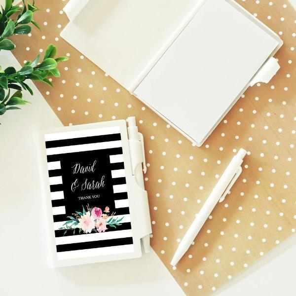 Personalized Floral Garden Notebook Favors (Set of 24)-The Wedding Haus