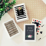 Personalized Floral Garden Playing Cards (Set of 24)-The Wedding Haus