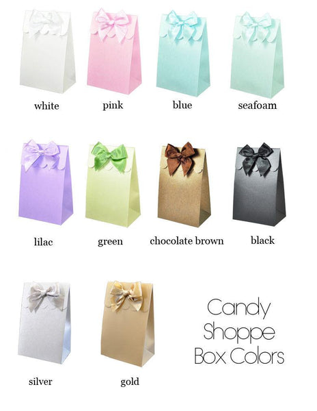 Personalized Floral Garden Sweet Shoppe Candy Boxes (Set of 24)-The Wedding Haus