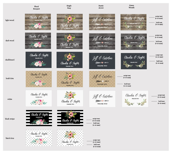 Personalized Floral Garden Water Bottle Labels (Set of 24)-The Wedding Haus