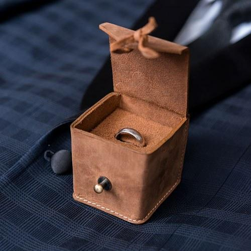 Personalized Leather Ring Box-The Wedding Haus