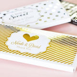 Personalized Metallic Foil Candy Wrapper Covers - Wedding (Set of 24)-The Wedding Haus