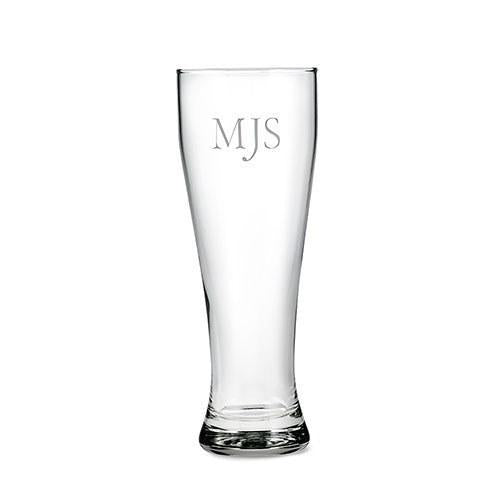 Personalized Monogram 22oz Engraved Beer Glass-The Wedding Haus