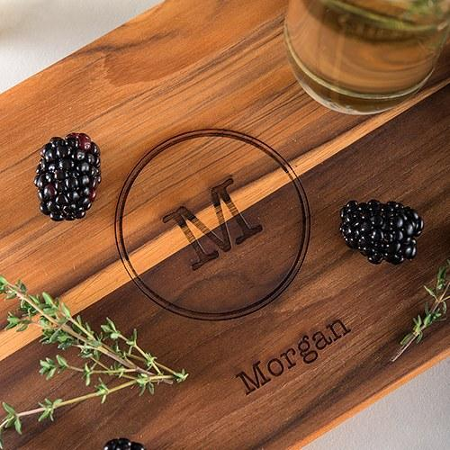 Personalized Monogram Serving Board-The Wedding Haus