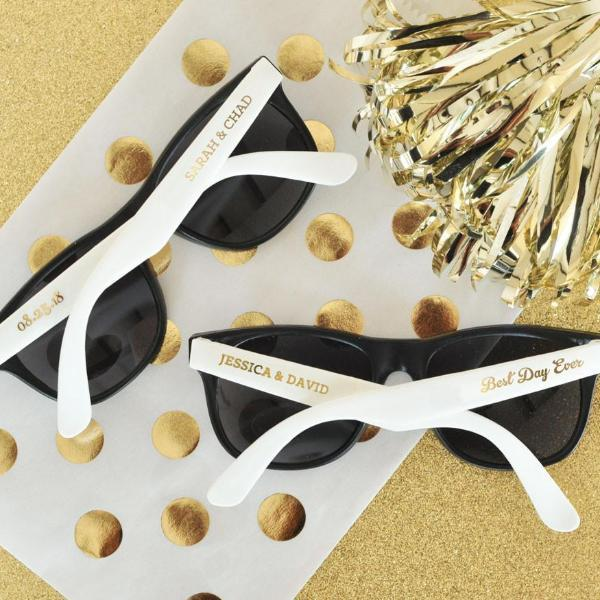 Personalized Wedding Sunglasses (Set of 24)-The Wedding Haus