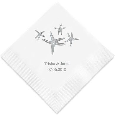 Starfish Printed Paper Napkins (Sets of 80-100)-The Wedding Haus