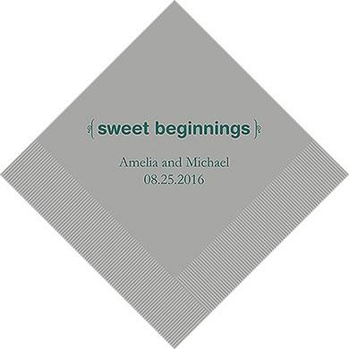 Sweet Beginnings Printed Paper Napkins (Sets of 80-100)-The Wedding Haus