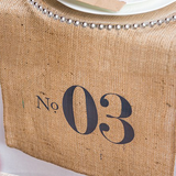 Table Number Personalized Burlap Table Runner-The Wedding Haus