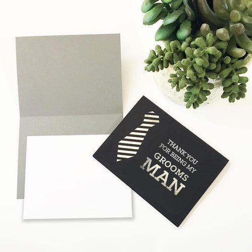 Thank You Groomsmen Cards (set of 4)-The Wedding Haus