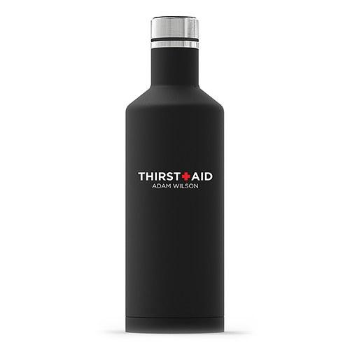 Times Square Travel Bottle - Matte Black Thirst Aid Printing-The Wedding Haus