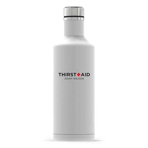 Times Square Travel Bottle - Matte White Thirst Aid Printing-The Wedding Haus