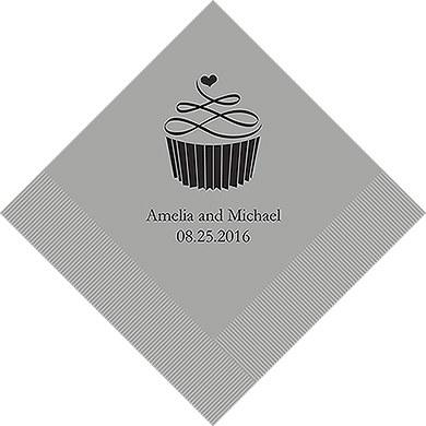 Topped With Love Printed Paper Napkins (Sets of 80-100)-The Wedding Haus