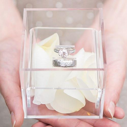 Unique Alternative Acrylic Wedding Ring Box-The Wedding Haus