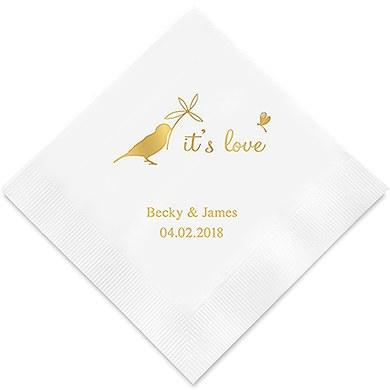 Whimsical Garden Printed Paper Napkins (Sets of 80-100)-The Wedding Haus