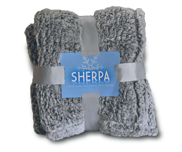 Frosted Sherpa Blankets