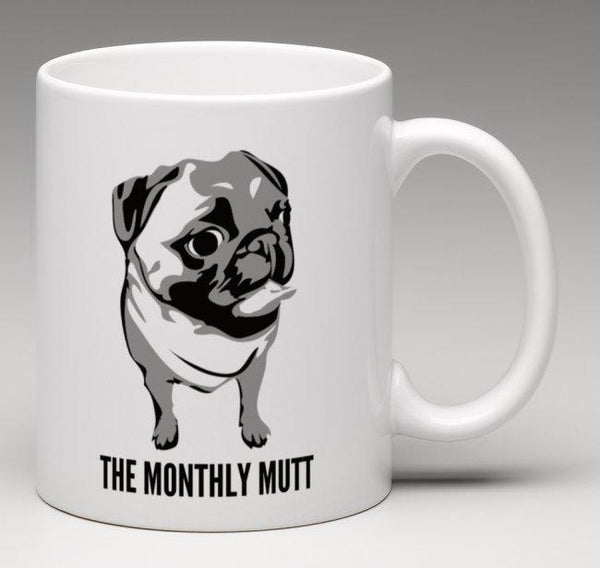 Monthly Mutt Mug - 325ml - Pugs and Kisses