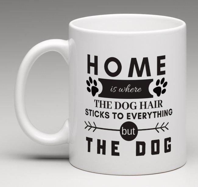 Monthly Mutt Mug - 325ml - Home is where...