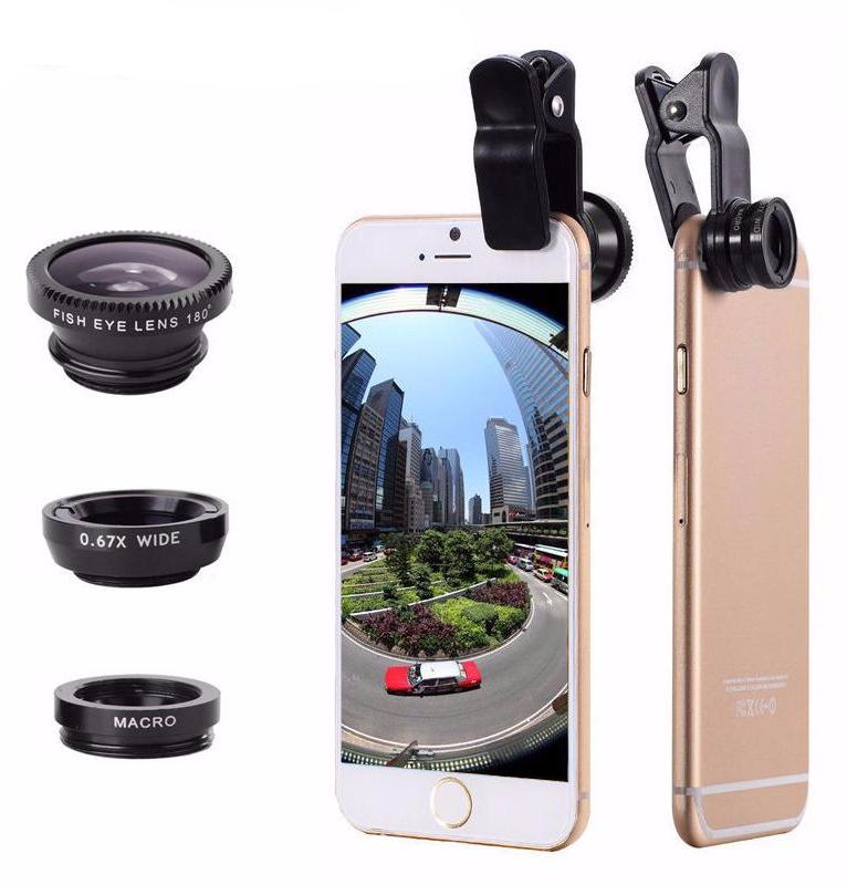 3 in 1 Mobile Phone Lens For iPhone & Galaxy
