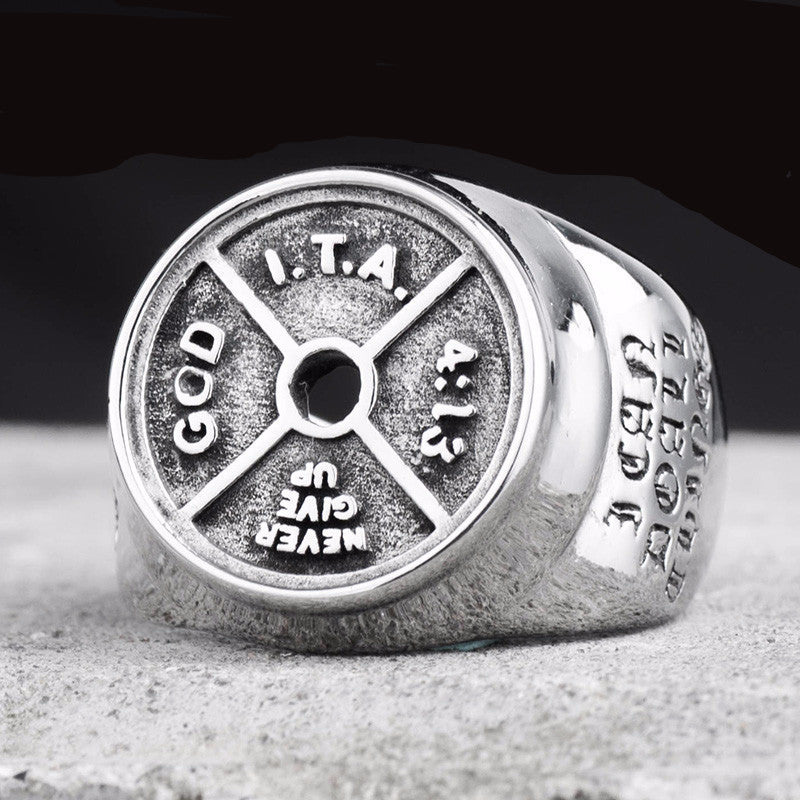 Dumbbell Stainless steel Ring